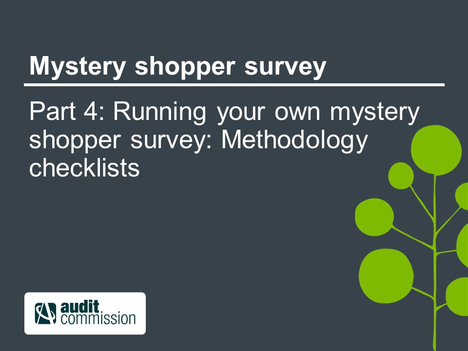 Mystery shopper survey