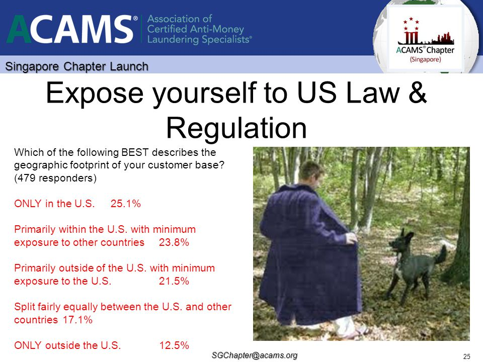 Expose yourself to US Law & Regulation