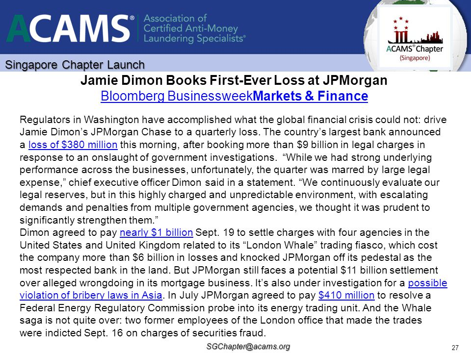 Jamie Dimon Books First-Ever Loss at JPMorgan Bloomberg BusinessweekMarkets & Finance