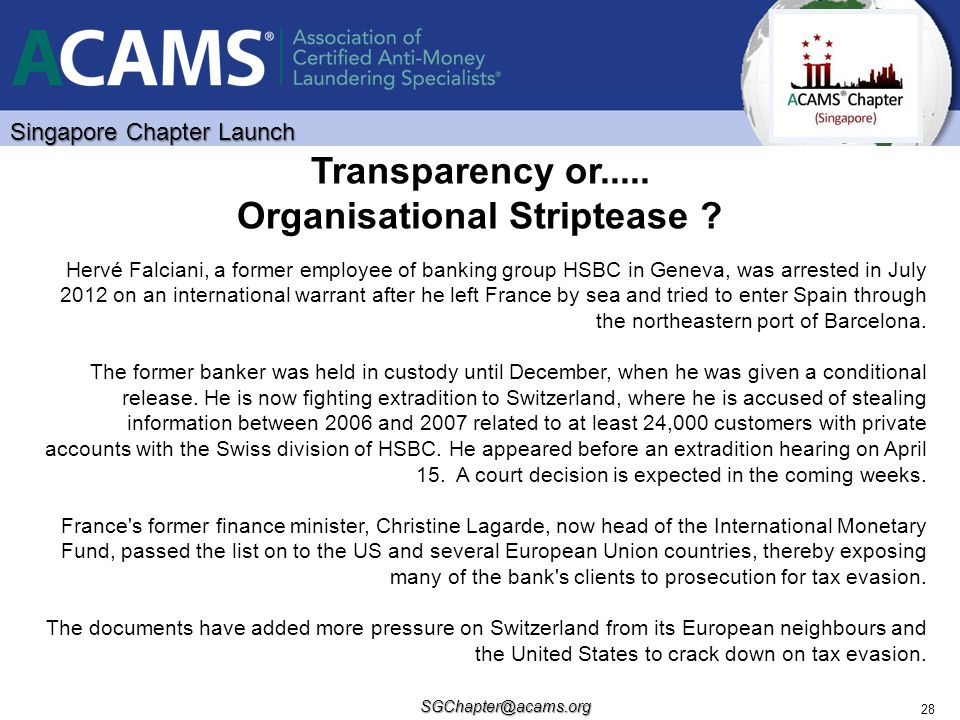 Transparency or..... Organisational Striptease