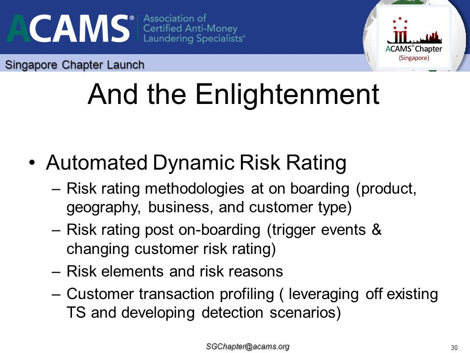 And the Enlightenment Automated Dynamic Risk Rating