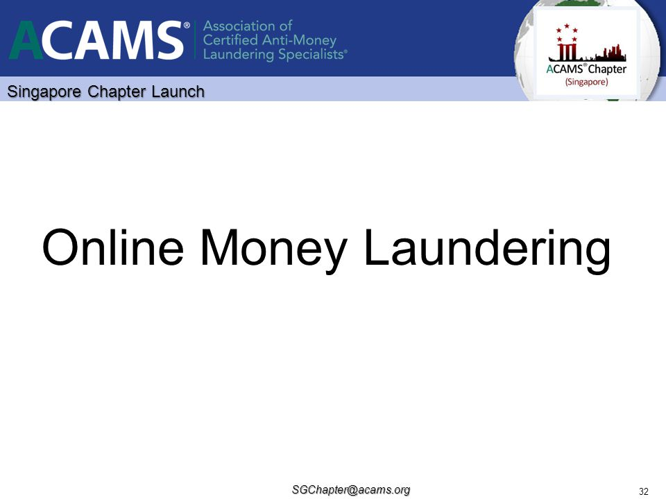 Online Money Laundering