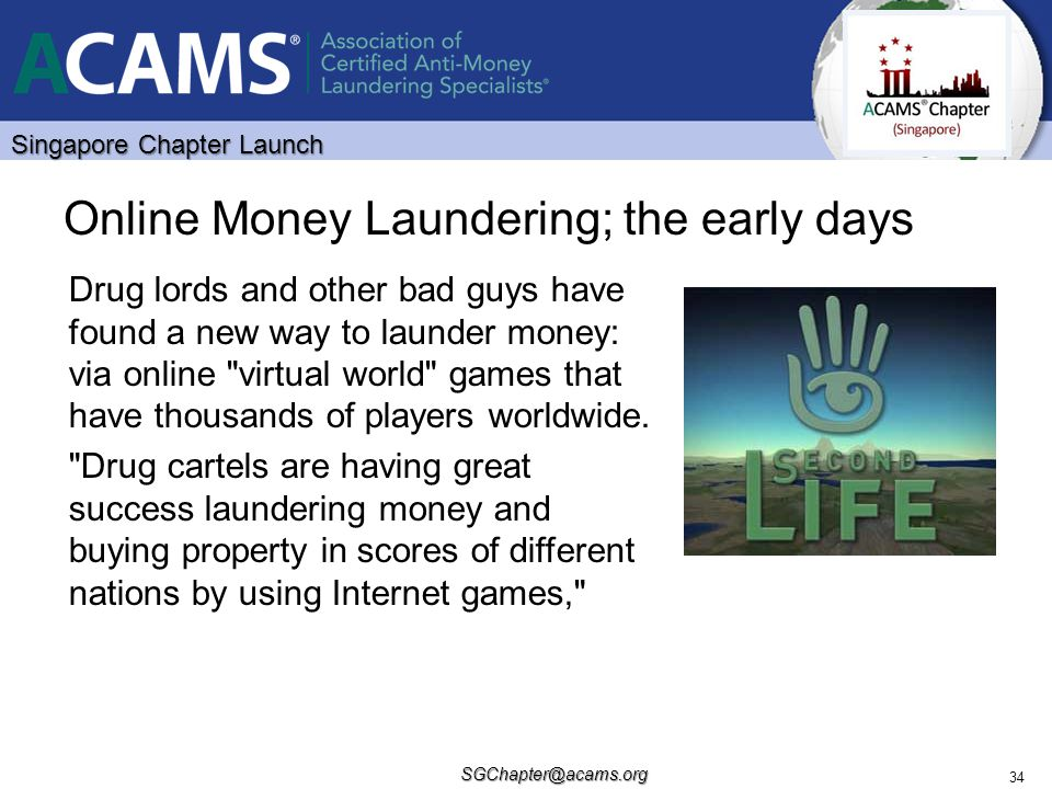 Online Money Laundering; the early days