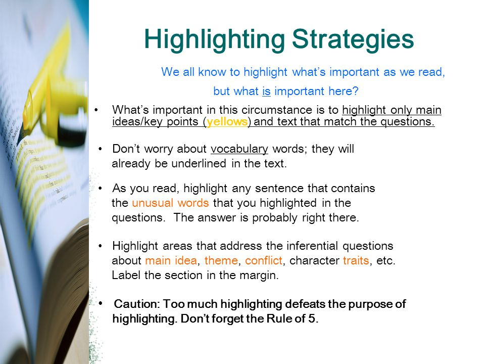 Highlighting Strategies