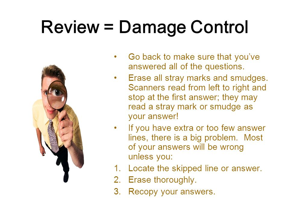 Review = Damage Control