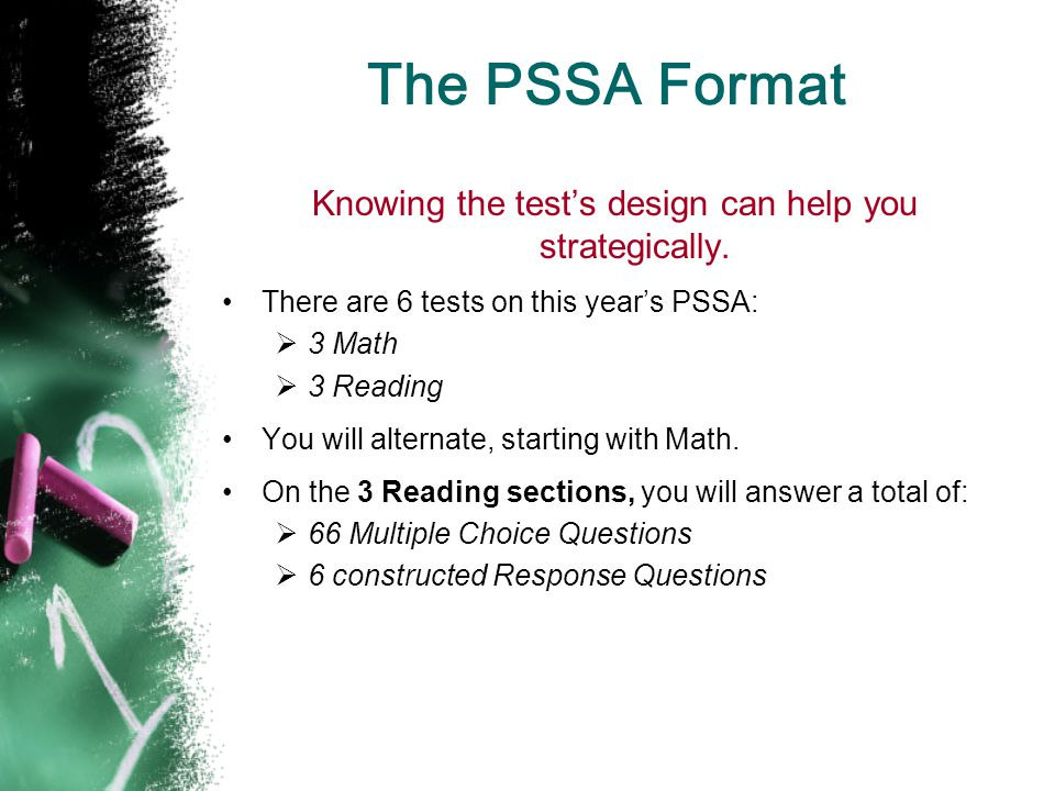 Knowing the test's design can help you strategically.