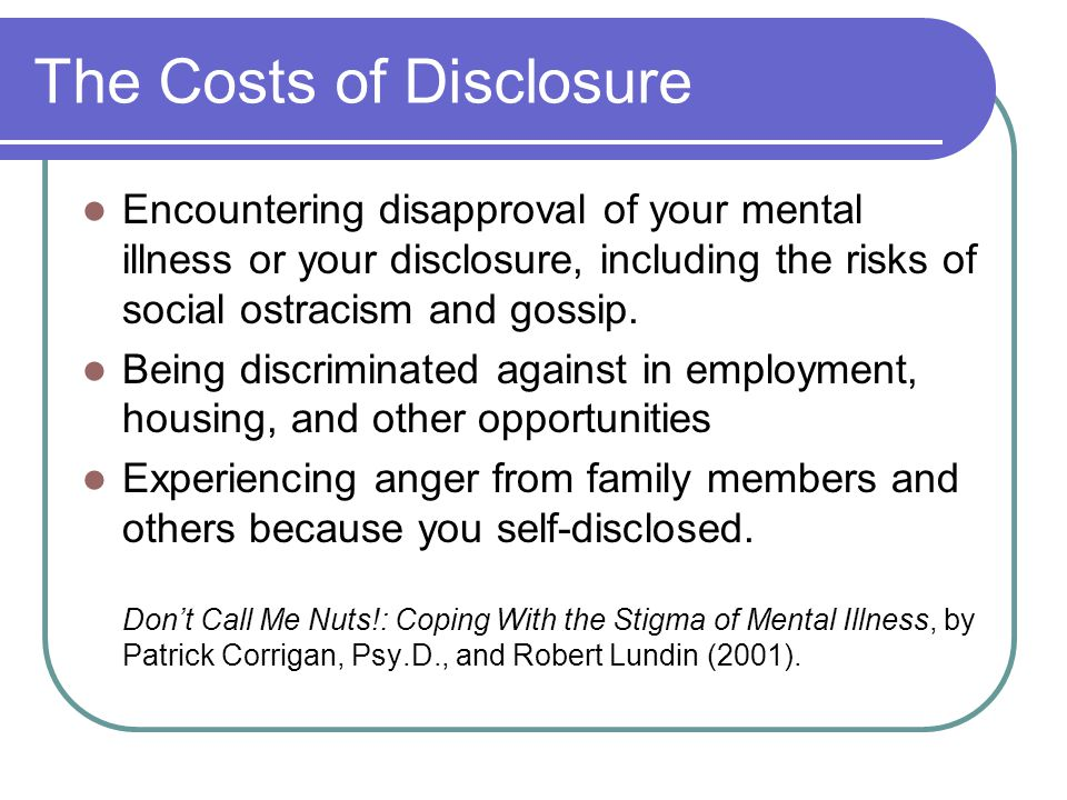The Costs of Disclosure