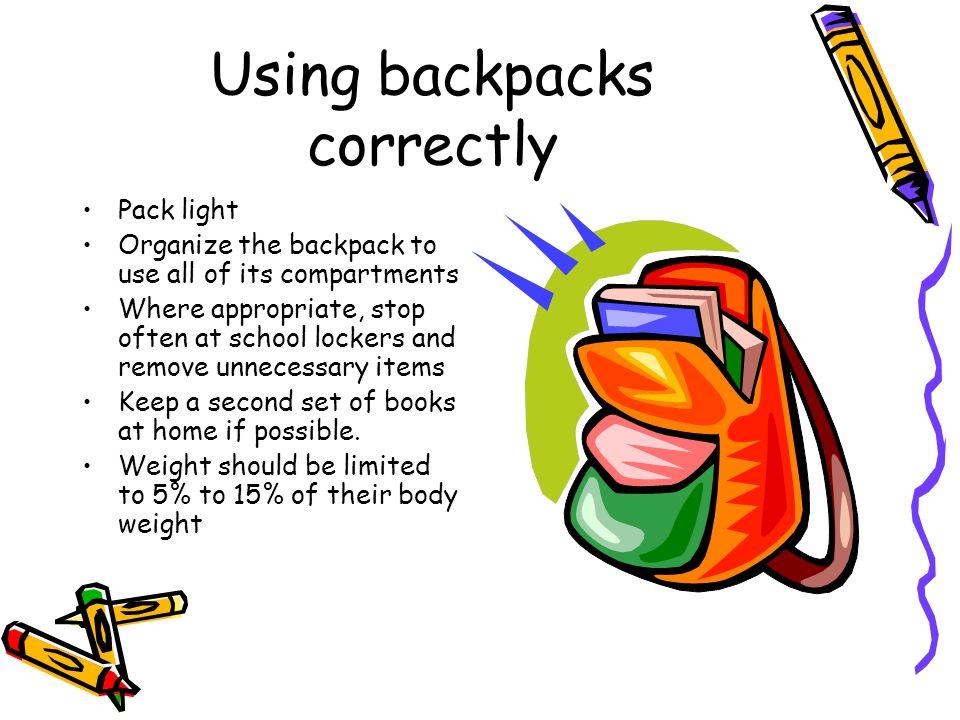 Using backpacks correctly