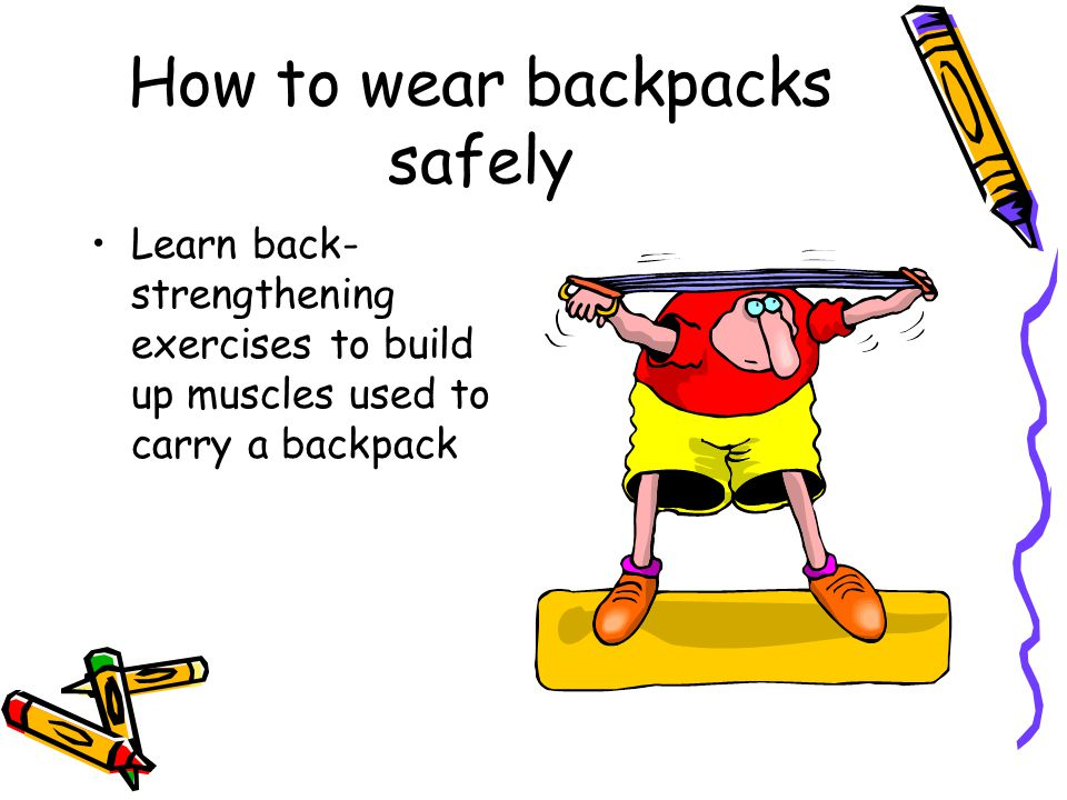 How to wear backpacks safely
