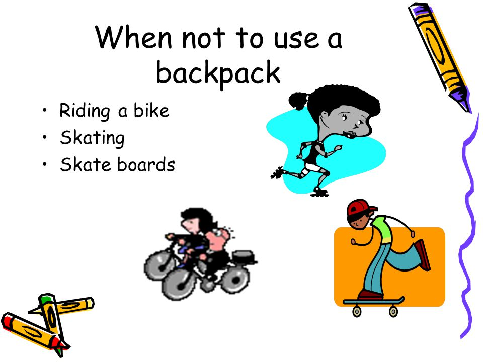 When not to use a backpack