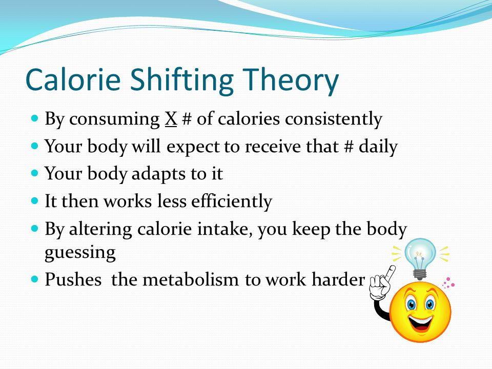 Calorie Shifting Theory