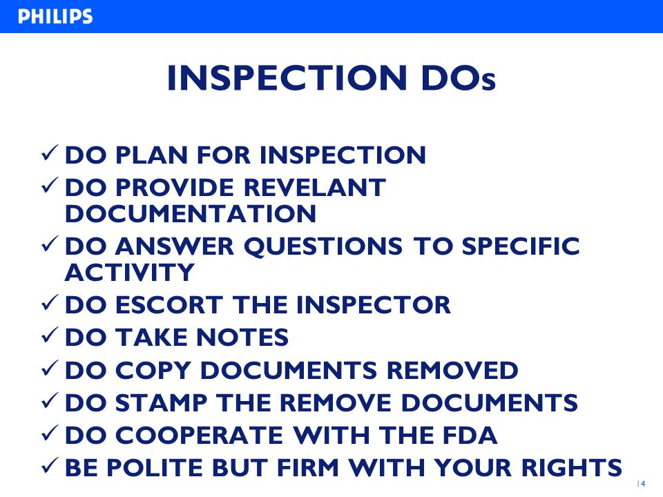 INSPECTION DOs DO PLAN FOR INSPECTION