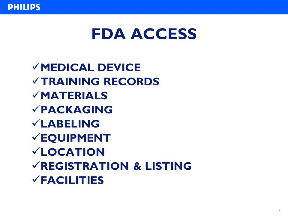 FDA ACCESS MEDICAL DEVICE TRAINING RECORDS MATERIALS PACKAGING