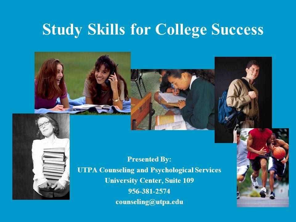 Study Skills for College Success
