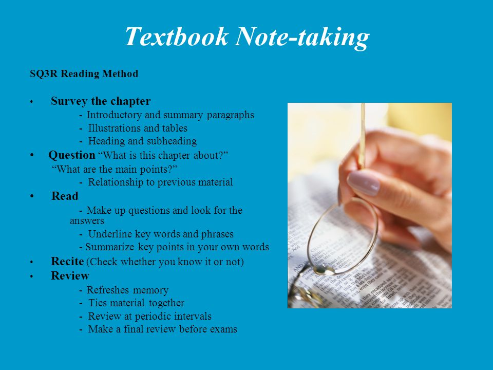Textbook Note-taking Question What is this chapter about Read