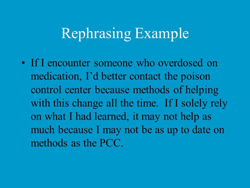 Rephrasing Example