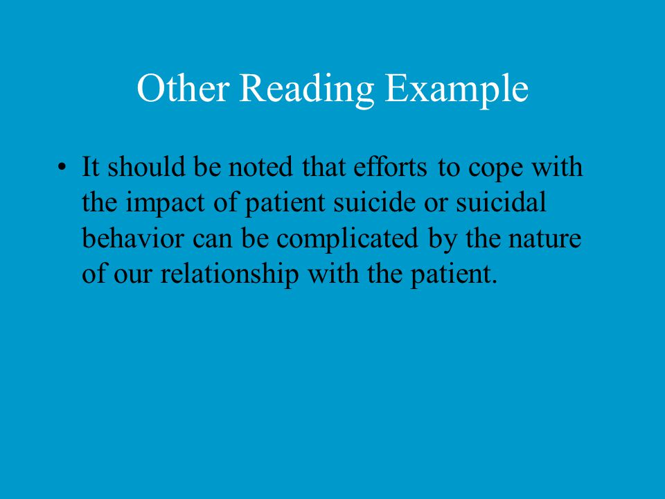 Other Reading Example