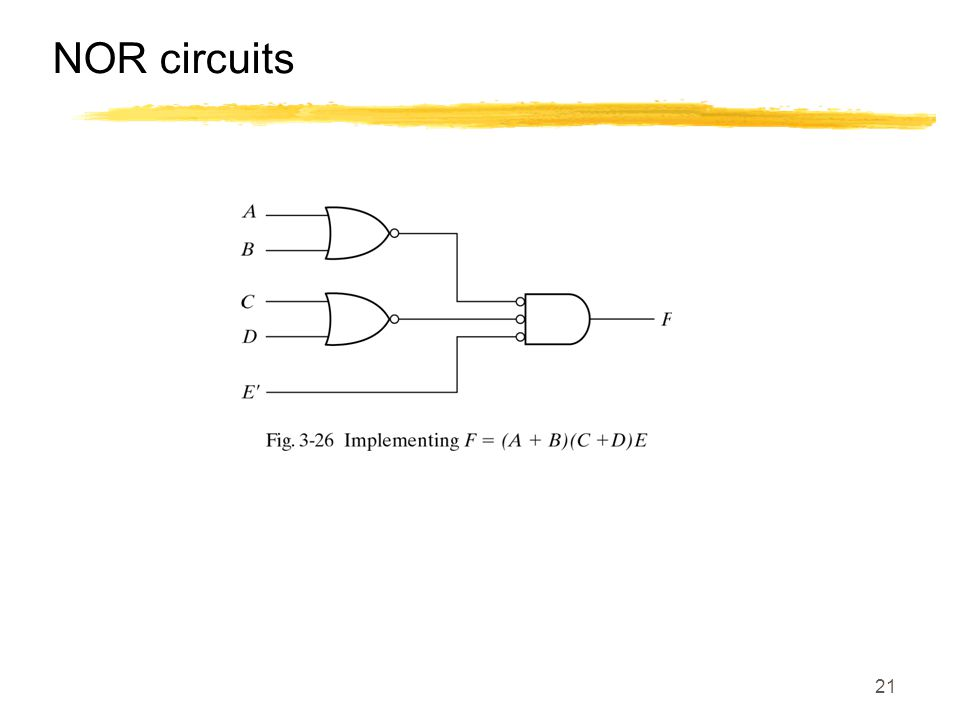 NOR circuits