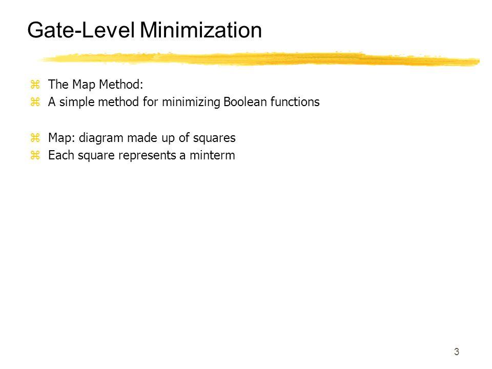 Gate-Level Minimization