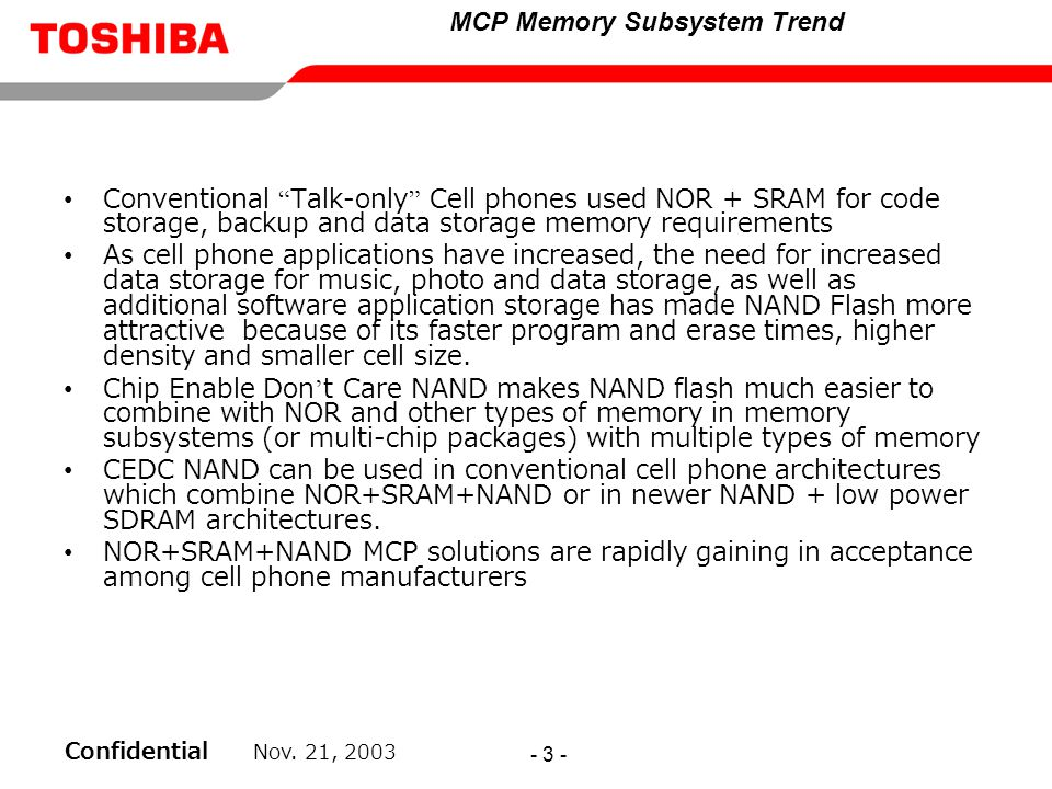 MCP Memory Subsystem Trend