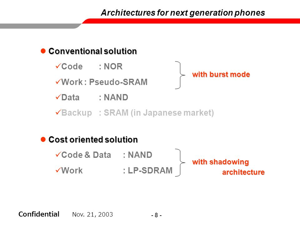 Architectures for next generation phones