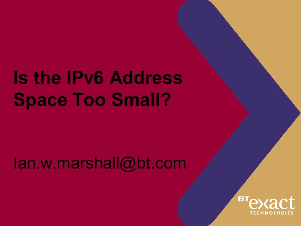 Is the IPv6 Address Space Too Small