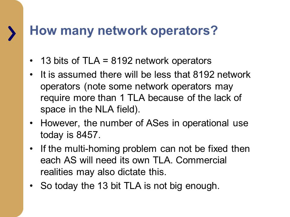 How many network operators