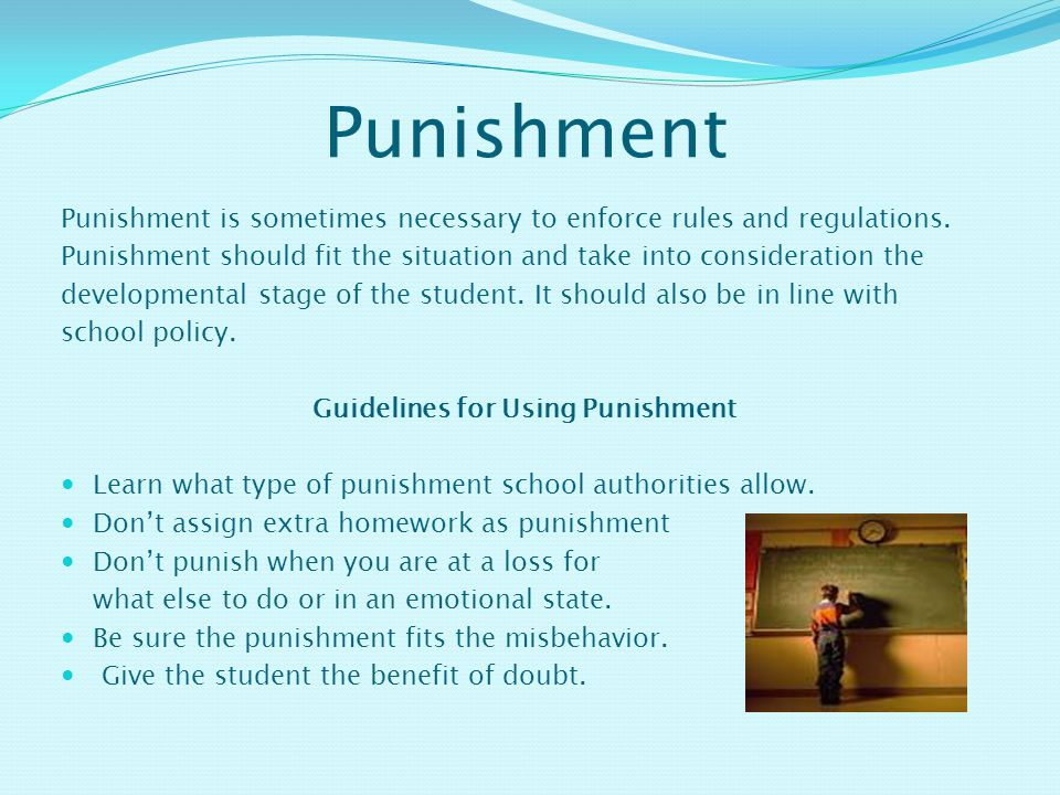 Guidelines for Using Punishment