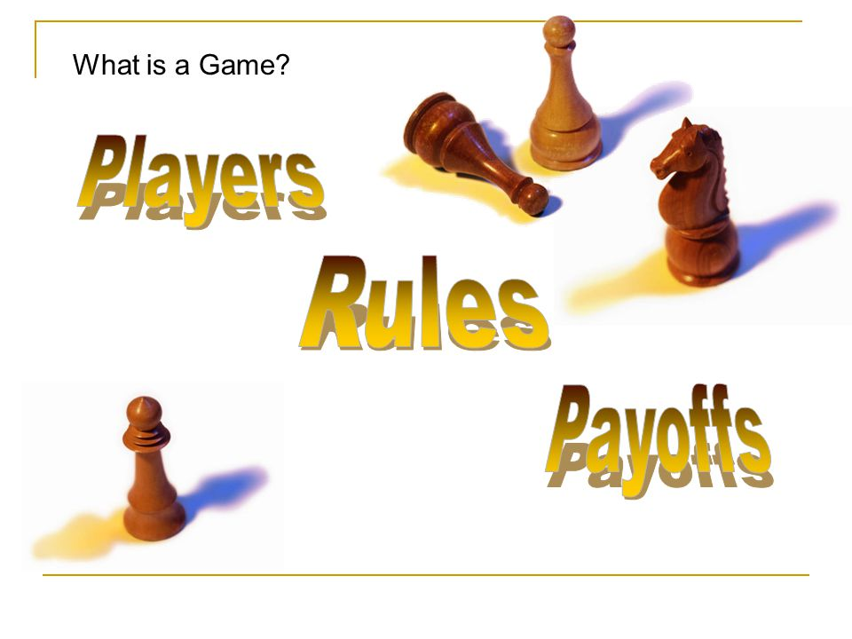 What is a Game Players Rules Payoffs