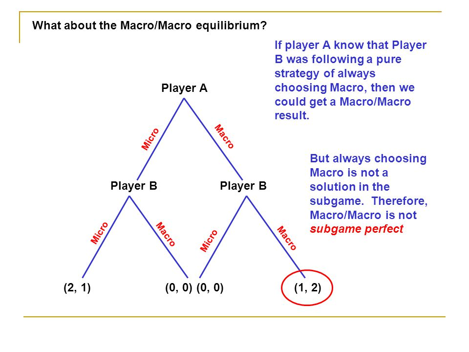 What about the Macro/Macro equilibrium