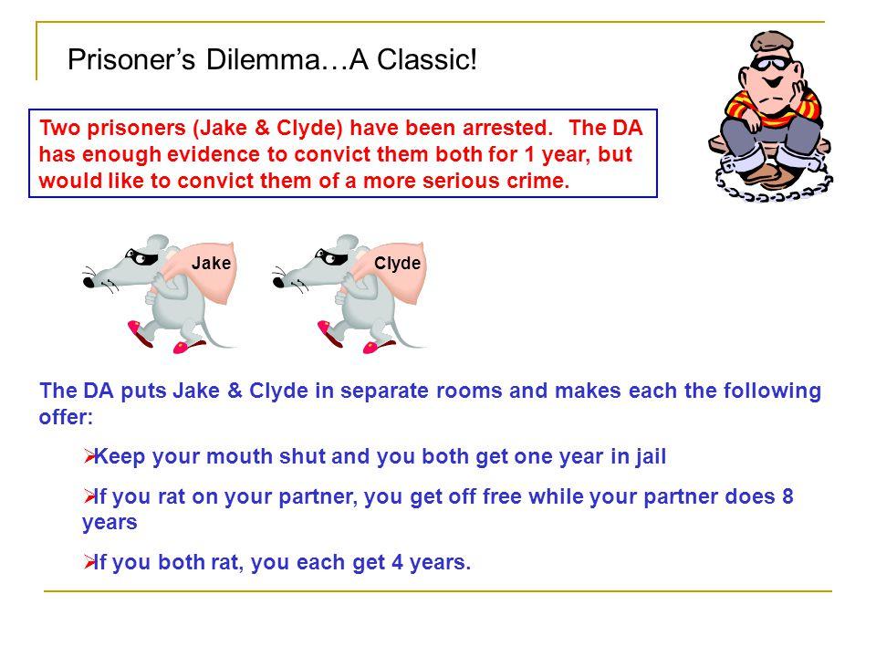 Prisoner's Dilemma…A Classic!