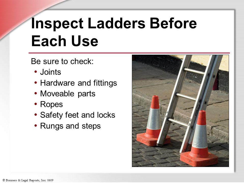 Inspect Ladders Before Each Use