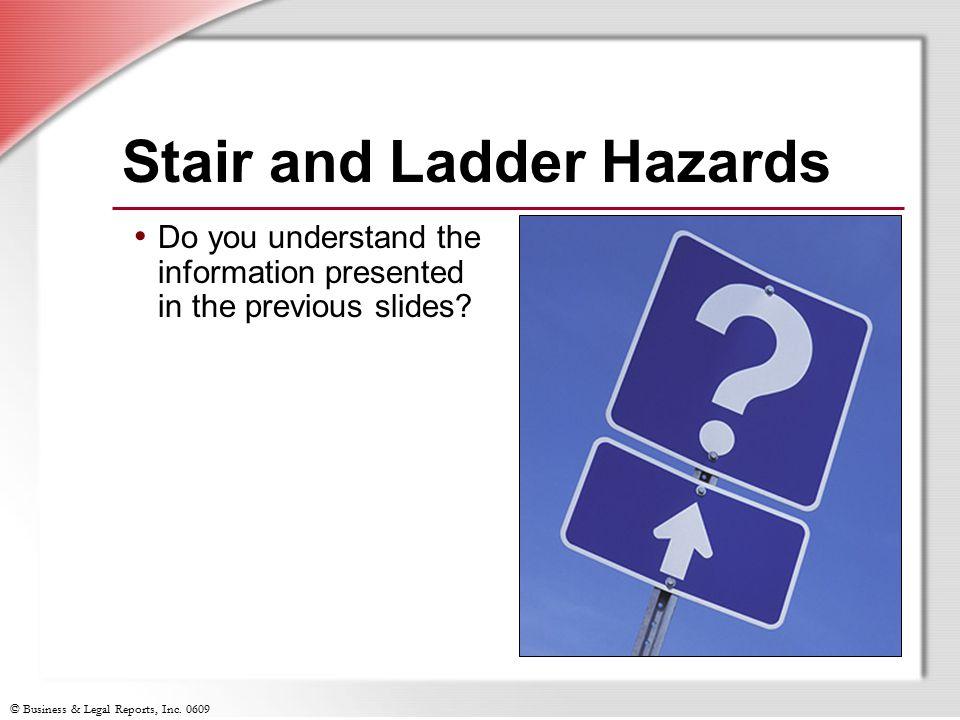 Stair and Ladder Hazards