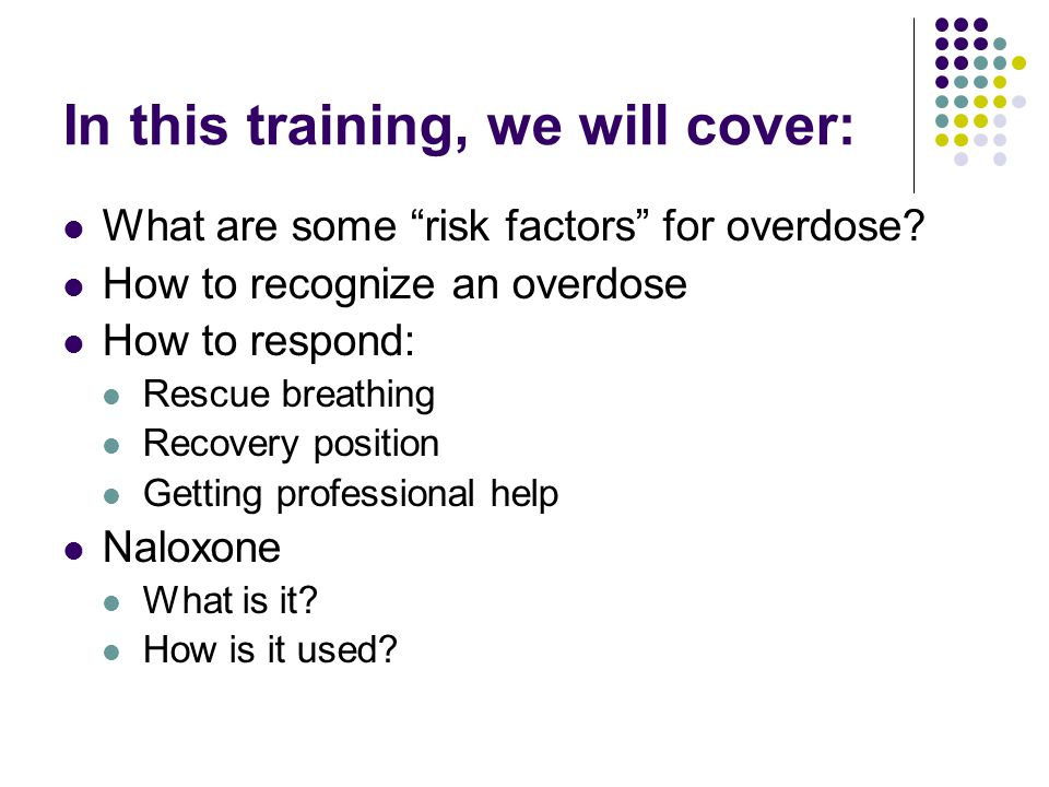 In this training, we will cover: