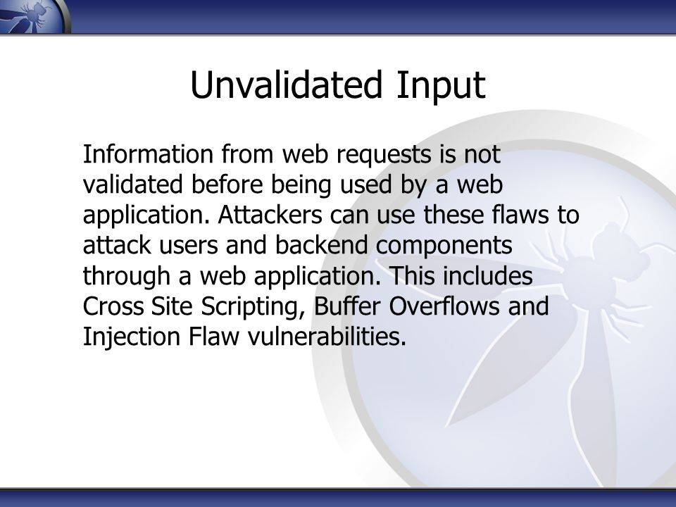 Unvalidated Input