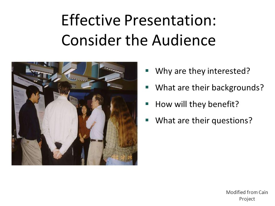 Effective Presentation: Consider the Audience