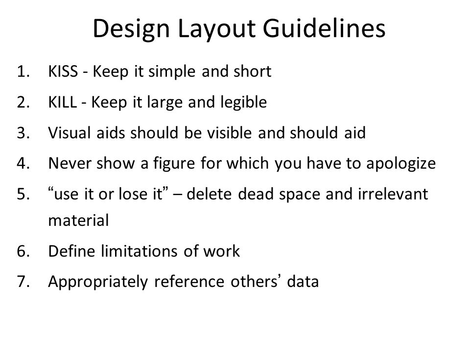 Design Layout Guidelines