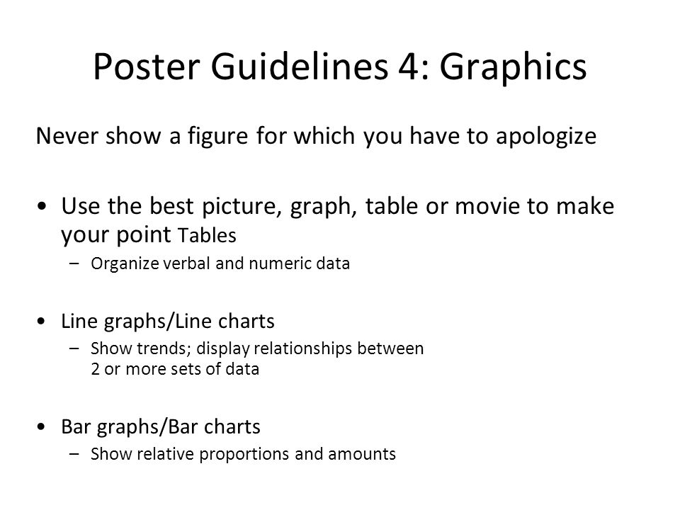 Poster Guidelines 4: Graphics