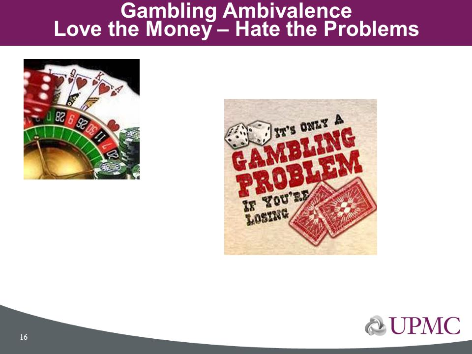Gambling Ambivalence Love the Money – Hate the Problems