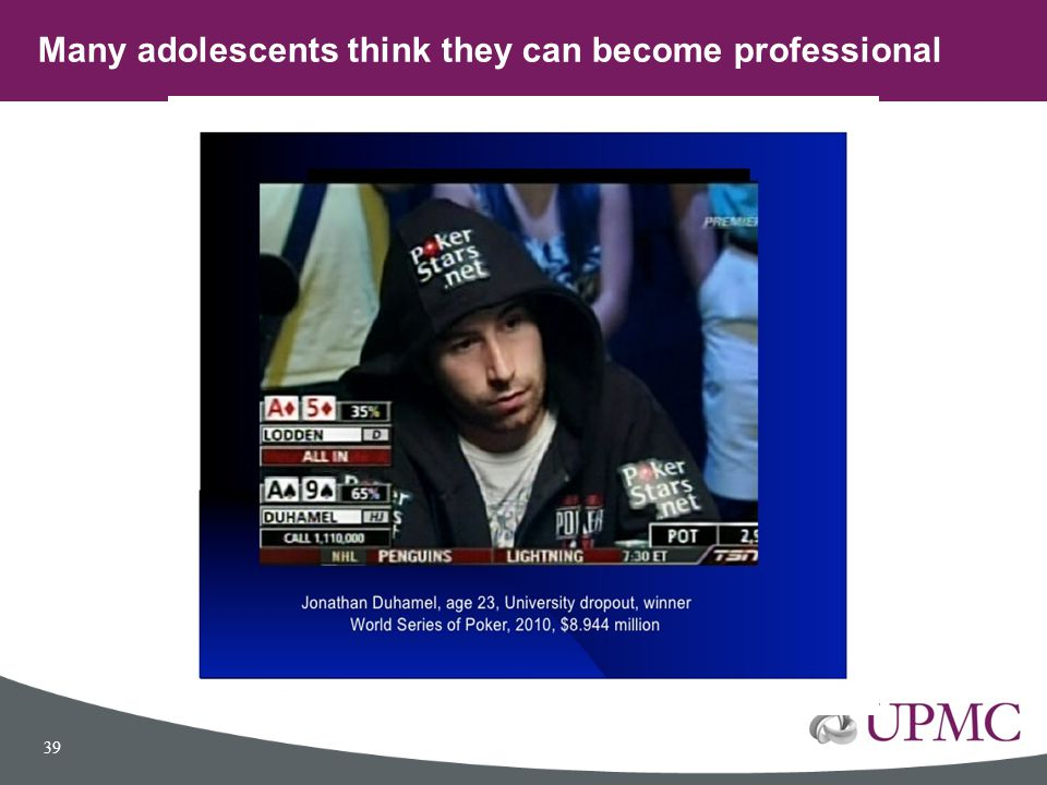 Many adolescents think they can become professional