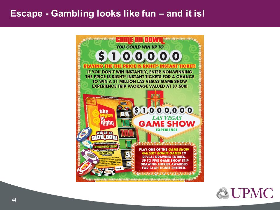 Escape - Gambling looks like fun – and it is!
