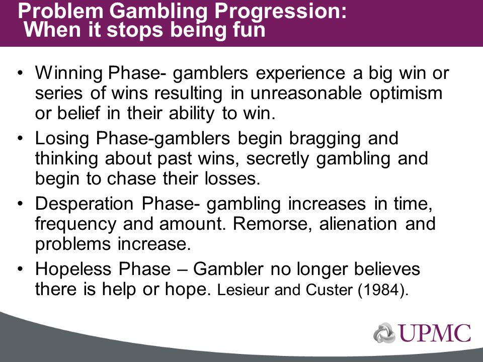 Problem Gambling Progression: When it stops being fun