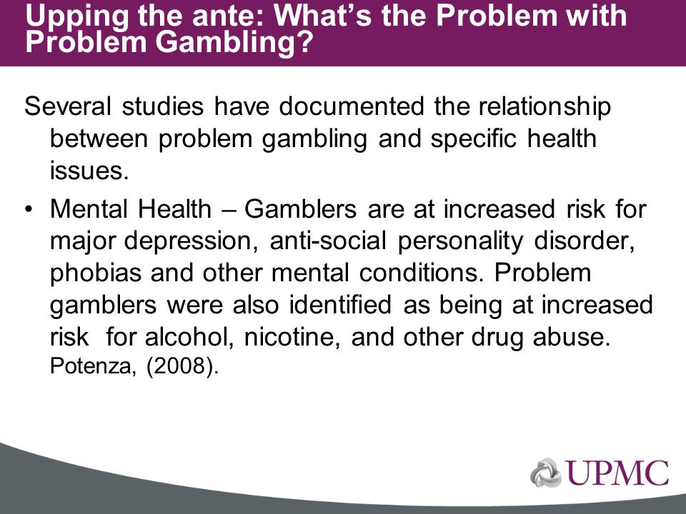 Upping the ante: What's the Problem with Problem Gambling