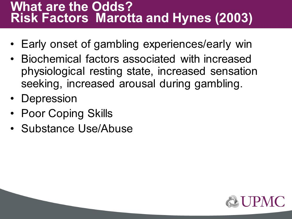 What are the Odds Risk Factors Marotta and Hynes (2003)