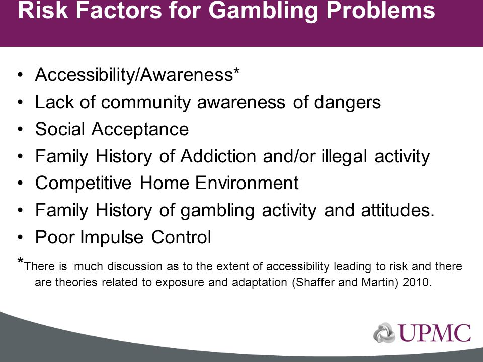 Risk Factors for Gambling Problems