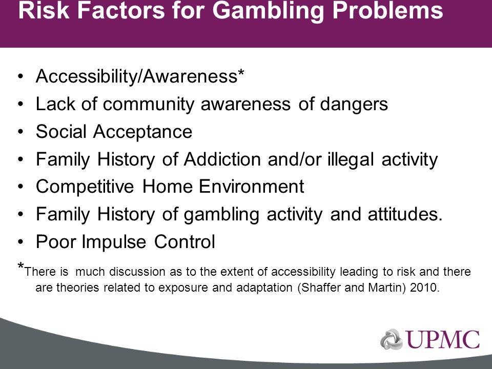 Risk Factors for Gambling Problems