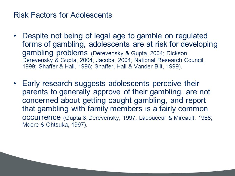 Risk Factors for Adolescents