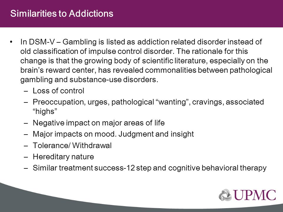 Similarities to Addictions