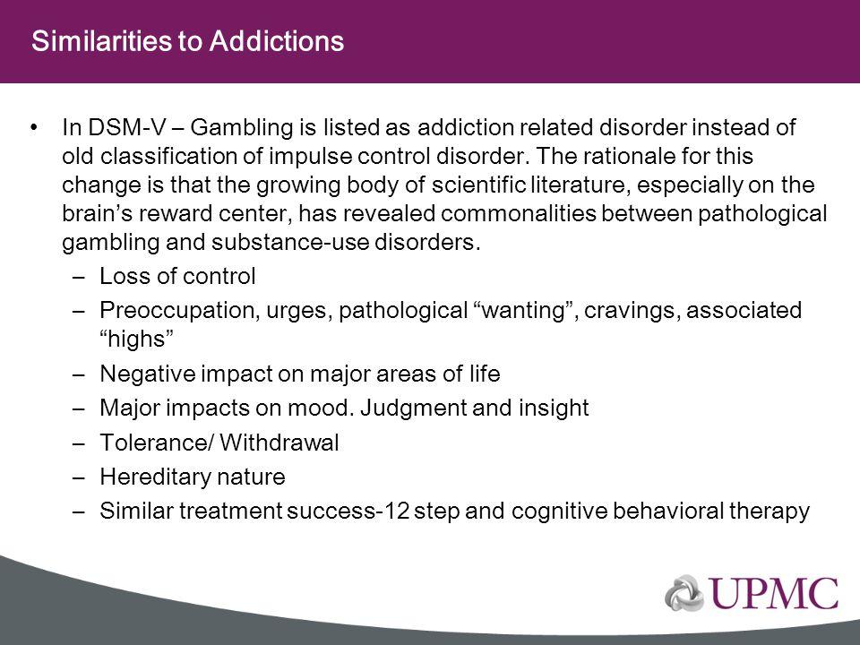 Similarities to Addictions