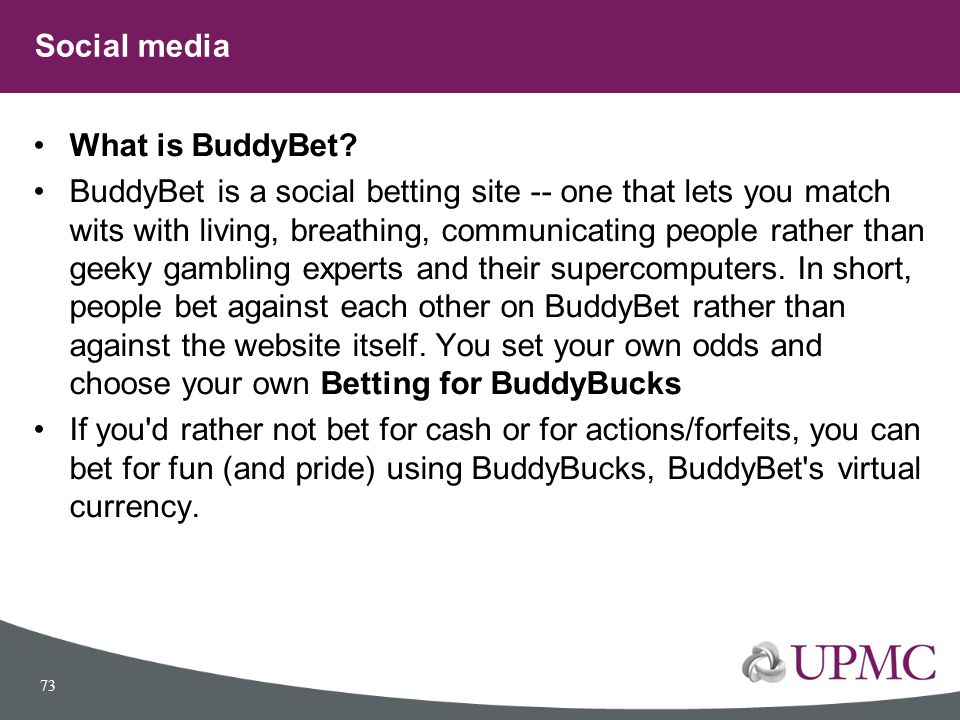 Social media What is BuddyBet